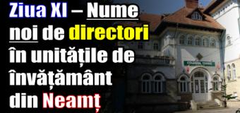 Ziua XI – Nume noi de directori în unitățile de învățământ din Neamț