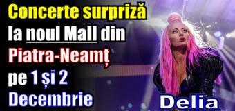 Concerte surpriză la noul Mall din Piatra-Neamț pe 1 și 2 Decembrie