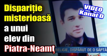 Dispariție misterioasă a unui elev din Piatra-Neamţ