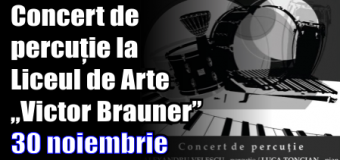 "Concert de percuție la Liceul de Arte ""Victor Brauner"" – 30 noiembrie 2016"