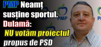 """PMP Neamț susține sportul. Dulamă: """"NU votăm proiectul propus de PSD"""""""