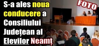 S-a ales noua conducere a Consiliului Județean al Elevilor Neamț