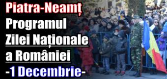 Piatra-Neamț – Programul Zilei Naționale a României (1 Decembrie 2016)