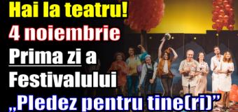 """Hai la teatru! Prima zi a Festivalului """"Pledez pentru tine(ri)"""""""