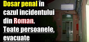 Dosar penal în cazul incidentului din Roman. Toate persoanele, evacuate.