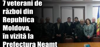 7 veterani de război din Republica Moldova, în vizită la Prefectura Neamț