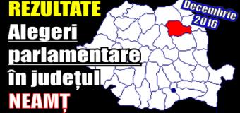 Rezultate – alegeri parlamentare (decembrie 2016) în județul Neamț