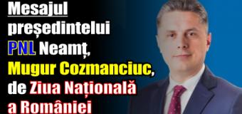 Mesajul președintelui PNL Neamț, Mugur Cozmanciuc, de Ziua Națională a României