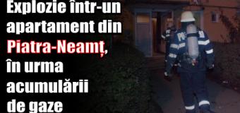 Explozie într-un apartament din Piatra-Neamț, în urma acumulării de gaze