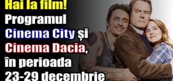 Hai la film! Programul Cinema City și Cinema Dacia, în perioada 23 – 29 decembrie