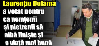Laurențiu Dulamă a votat pentru ca nemțenii și pietrenii să aibă liniște și o viață mai bună