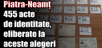 Piatra-Neamț – 455 acte de identitate, eliberate la aceste alegeri