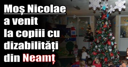 Moș Nicolae a venit la copiii cu dizabilități din Neamț