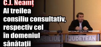 C.J. Neamț – Al treilea consiliu consultativ, respectiv cel în domeniul sănătații