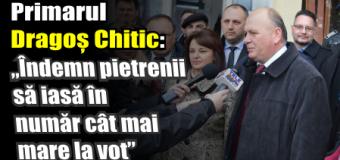"""Primarul Dragoș Chitic: """"Îndemn pietrenii să iasă în număr cât mai mare la vot"""""""