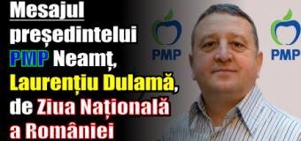 Mesajul președintelui PMP Neamț, Laurențiu Dulamă, de Ziua Națională a României