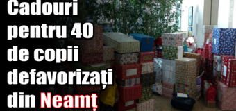 Cadouri pentru 40 de copii defavorizați din Neamț