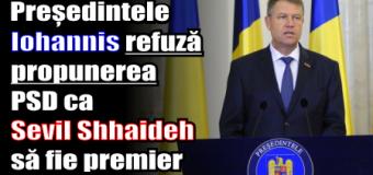 Președintele Iohannis refuză propunerea PSD ca Sevil Shhaideh să fie premier