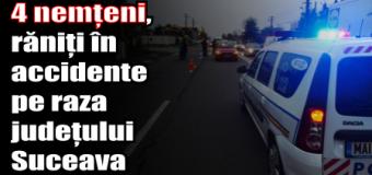 4 nemțeni, răniți în accidente pe raza județului Suceava