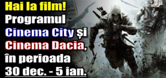 Hai la film! Programul Cinema City și Cinema Dacia, în perioada 30 decembrie – 5 ianuarie