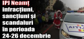IPJ Neamț – infracțiuni, sancțiuni și scandaluri în perioada 24-26 decembrie