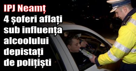 Doar ieri, polițiștii au depistat în trafic patru conducători auto aflați sub influența alcoolului