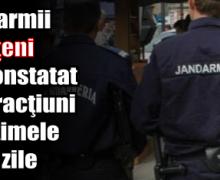 Jandarmii nemţeni au constatat 6 infracţiuni în ultimele 6 zile