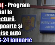 Program special la prefectură, pașapoarte și permise auto pe 23-24 ianuarie