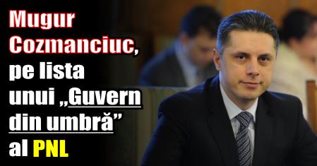 """Mugur Cozmanciuc, pe lista unui """"Guvern din umbră"""" al PNL"""