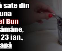 Două sate din comuna Alexandru cel Bun vor rămâne, luni (23 ianuarie), fără apă