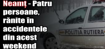 Neamț – Patru persoane, rănite în accidentele din acest weekend