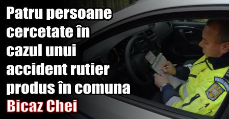 Patru persoane cercetate în cazul unui accident rutier produs în comuna Bicaz Chei