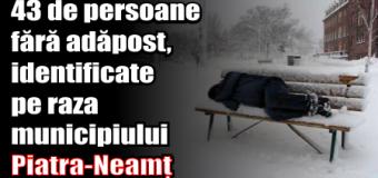 43 de persoane fără adăpost, identificate pe raza municipiului Piatra-Neamț