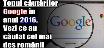 Topul căutărilor Google în anul 2016. Vezi ce au căutat cel mai des românii pe internet