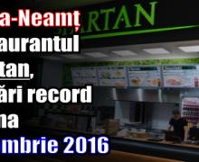 Piatra-Neamț – Restaurantul Spartan, vânzări record în luna decembrie 2016