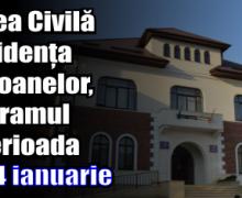 Programul Biroului de Stare Civilă și a Evidenței Persoanelor în perioada 21-24 ianuarie
