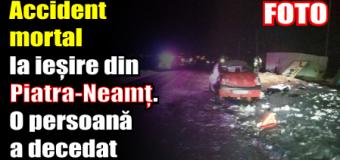 Accident mortal la ieșire din Piatra-Neamț. O persoană a decedat